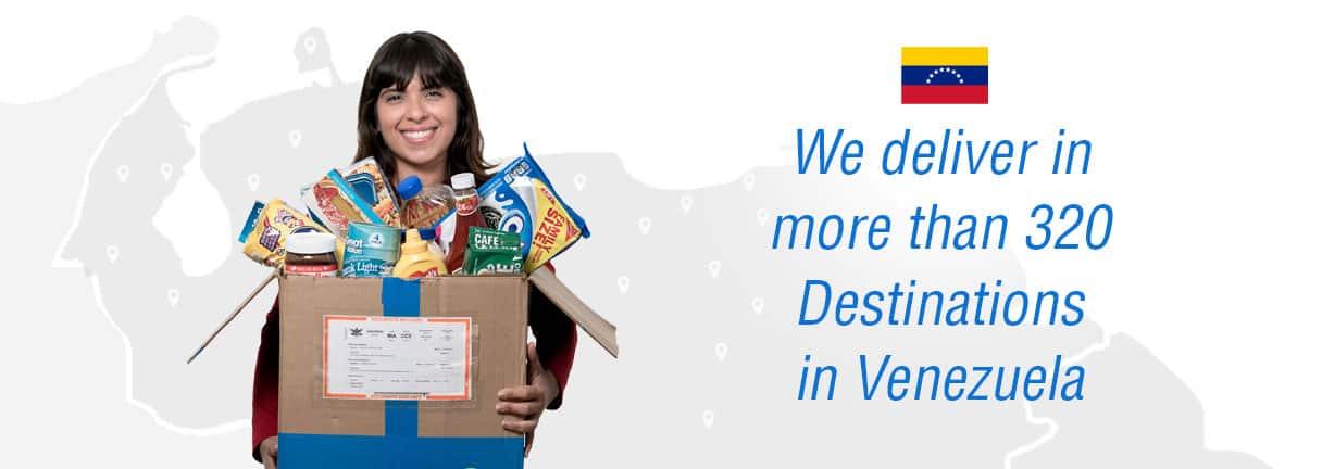 Send food to Venezuela - destinations - food delivery in Venezuela