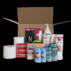 Caja de artículos de higiene personal a Venezuela
