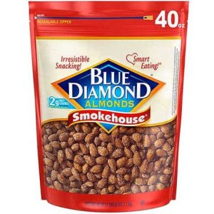 Blue diamonds smokehouse almonds
