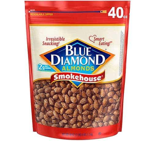 Blue diamonds smokehouse almonds