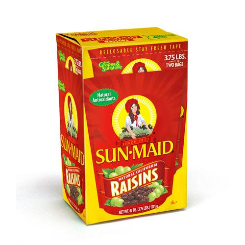 Uvas pasas sun maid california sun dried raisins 3.75 lb pasitas sun maid