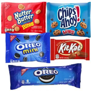 Combo cookies oreo chips ahoy, kit kat, nutter butter