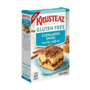 Krusteaz torta de canela libre de gluten