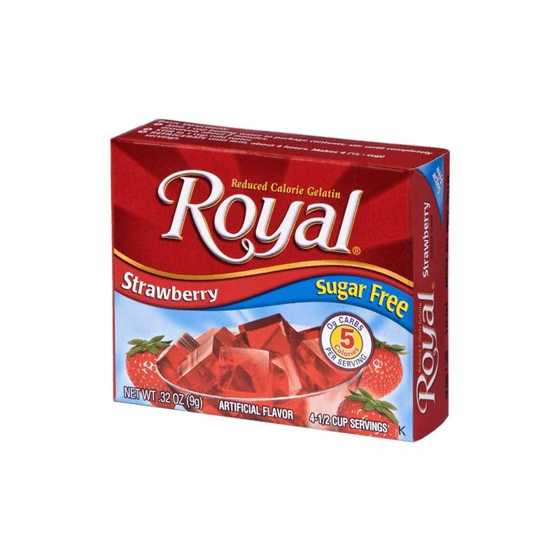 Royal gelatina de fresa